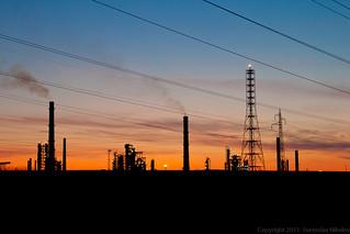 Oil company sunset | by Svetoslav Nikolov