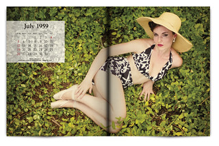 Vintage Magazine Spread Design Project - Pgs. 36 & 37   by willstotler
