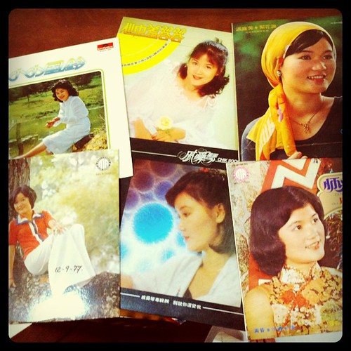 Dug out old records of mom (she was a singer before marriage) to use as film props | by edmundyeo