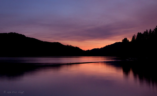 longexposure pink sunset summer lake water washington dusk smoke forestfire merwinlake