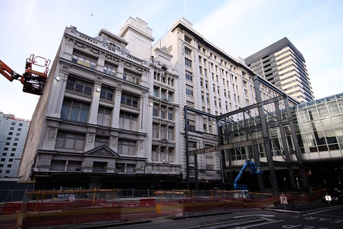 Work on the new shopping centre in Myer's old Lonsdale Street store