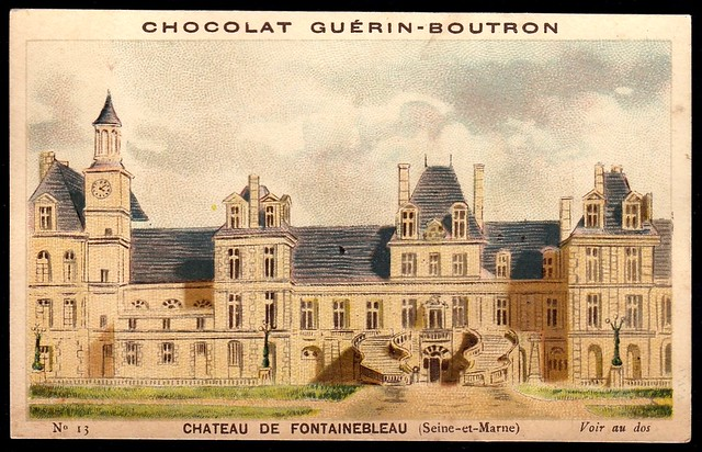 French Tradecard - Chateau de Fontainebleau