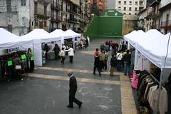 Plano de la Plaza Cardenal Orbe con los puestos de la feria