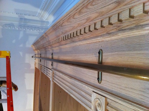 Last of the cabinet moldings going in   by johnclarkemills