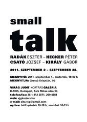 2011. augusztus 23. 20:24 - Small talk