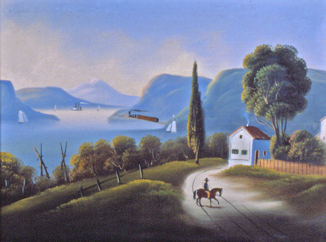 Untitled Oil Painting of Hudson River Highlands