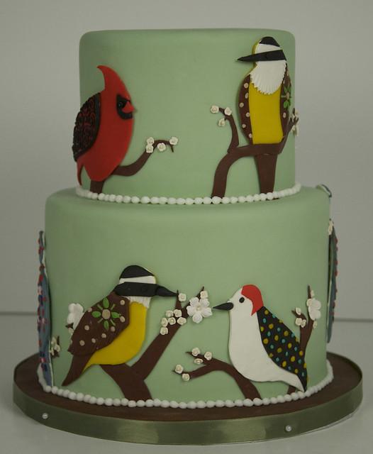 BC4027 - bird birthday cake toronto2