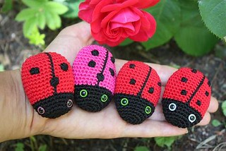 crochet baby handmade lovely ladybug rattle toy doll gifts|rattle ... | 214x320