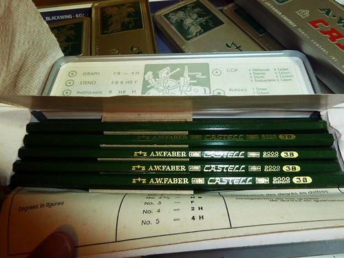 aw faber castell 9000 vintage 3b pencil tin  blog entry