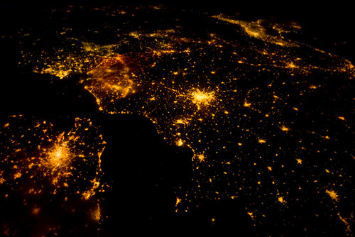 Europe at night from the ISS | by thebadastronomer