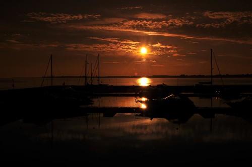sunset sacketsharbor madisonbarracks