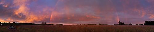 family pink sunset panorama clouds amazing rainbow michigan gorgeous client sayers panorma tallgrassprairie 2011 kalamazoonaturecenter drwilliardmrose doubltrainbow