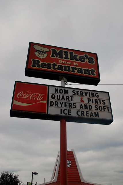 Mike's Drive-In sign