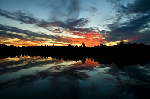 light lake canada reflection nature water sunrise quebec bleu laurentides mariemarthegagnon