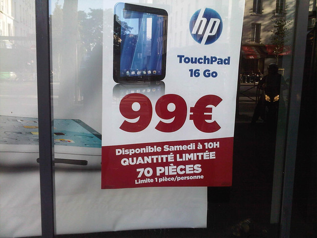 Surcouf HP Touchpad