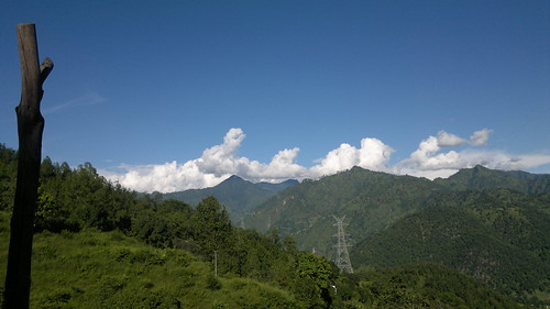 sky mountain nature clouds stand still peak clear silence