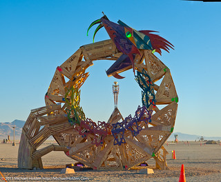 """Ouroboros"" by the Flipside CORE project  and Burning Man 