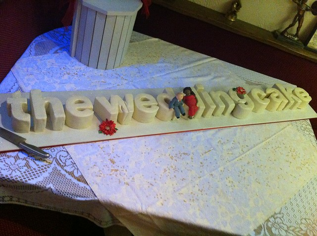 Er..'the wedding cake'!