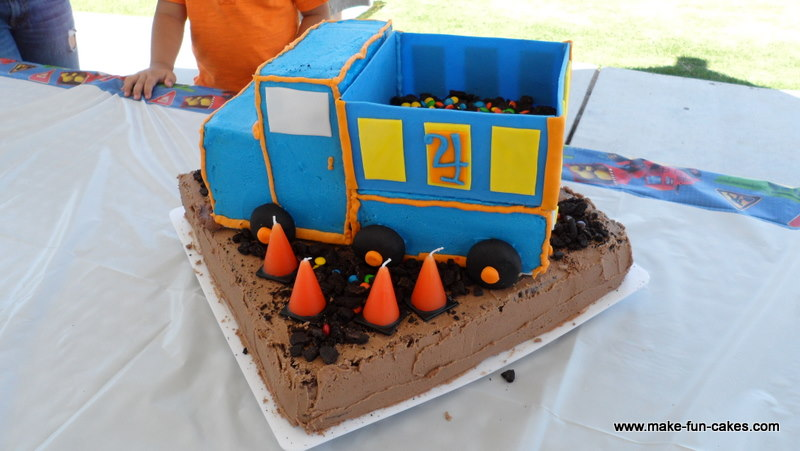 Enjoyable Dump Truck Birthday Cake Learn How To Make This Fun Dump T Flickr Funny Birthday Cards Online Elaedamsfinfo