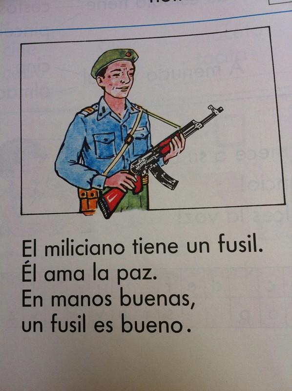 Pasamos la pagina y sigue la F de ... Fusil