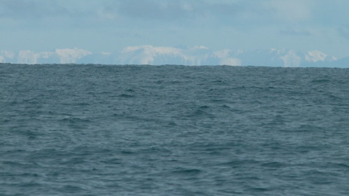 Icebergs in the distance
