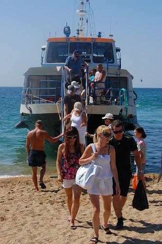 Výstup na pláži kousek od Sevastopolu