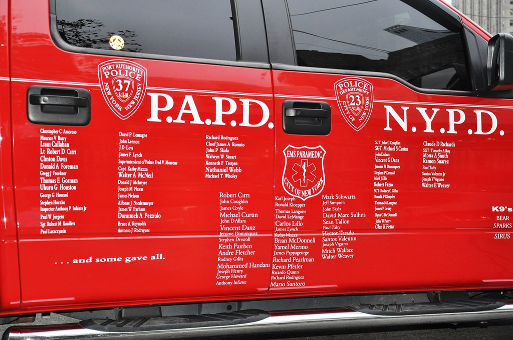 New York City 9-11-11: Fire Truck with Names   This fire tru