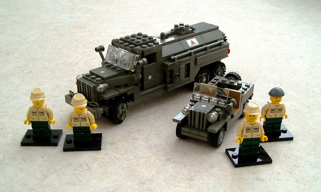 USAAF vehicles and ground crew
