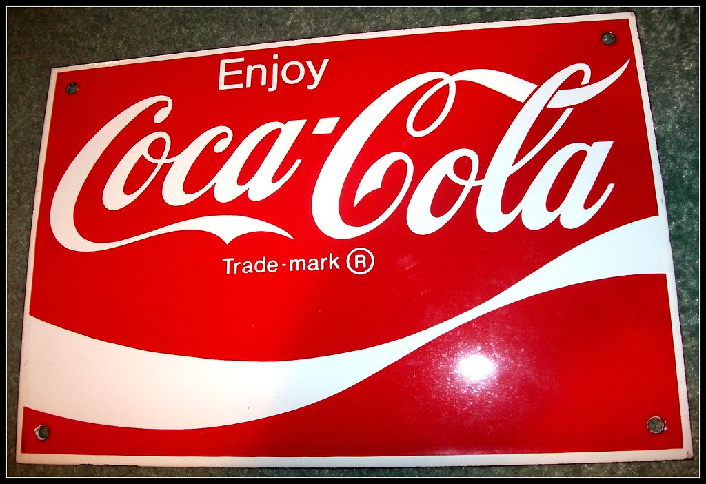 Coca Cola stove enamel sign    Old Coca Cola advert sign in