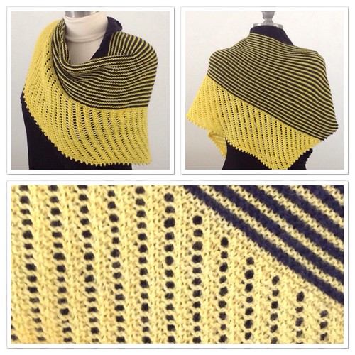 Black and yellow Cameo shawl 1 | by saashka