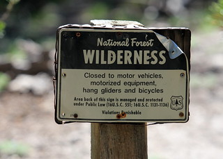 USFS Wilderness Sign | by Jason Crotty