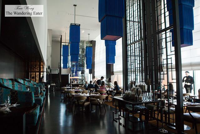 Interior of China Blue restaurant