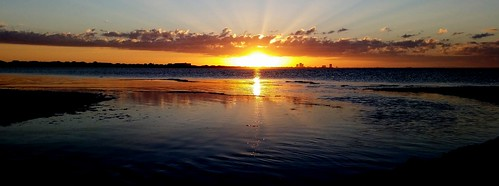 sunset beach water clouds samsung pensacola sunbeams galaxys5
