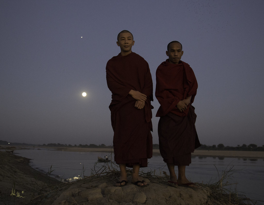 monks, full moon