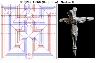 ORIGAMI - JESUS (Crucifixion) - CP + Photo-diagrams !! | by Neelesh K