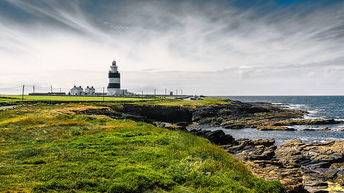 wexford waterford leuchtturm lighthouse ireland hookhead küste felsen