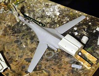 "1:72 Mikoyan-Gurewitsch Izdeliye 71.2 ""жура́вль"" (Crane); 2nd prototype at Savasleyka Air Base, 1995 (Whif/kit-bashing) - WiP   by dizzyfugu"