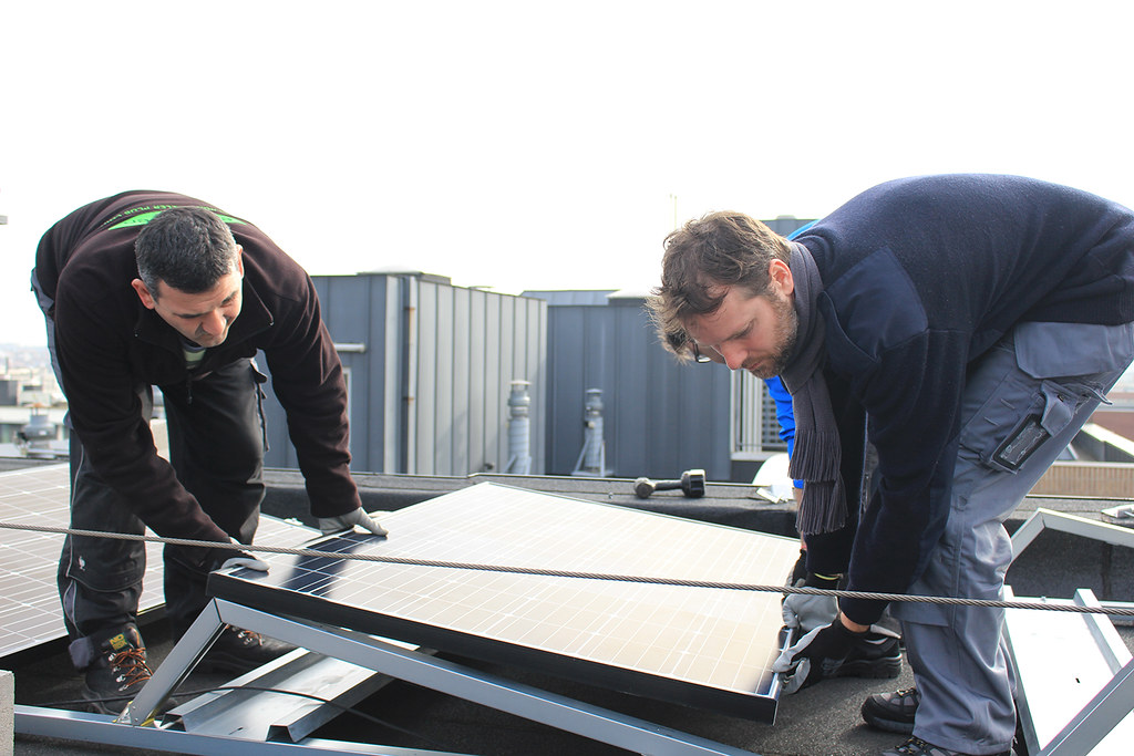 EPO's solar roof in the making