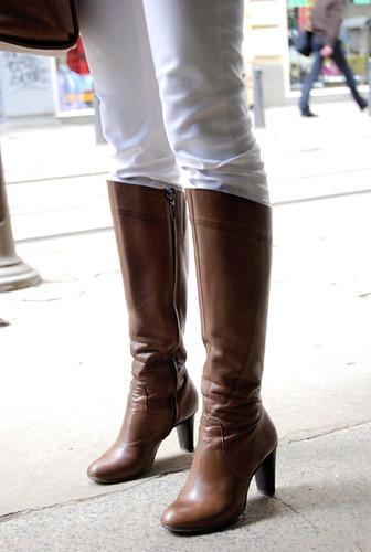 leder hooker boots