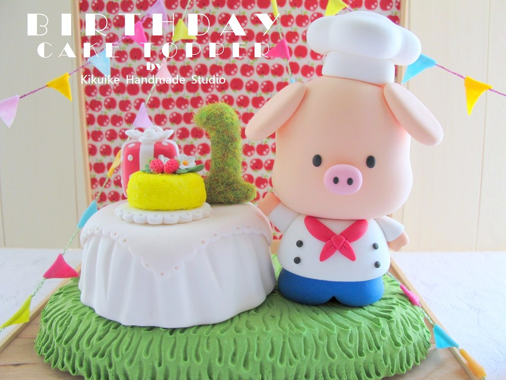 Fine Piggy Birthday Cake Topper Hello Welcome To Kikuikes Hand Flickr Funny Birthday Cards Online Necthendildamsfinfo