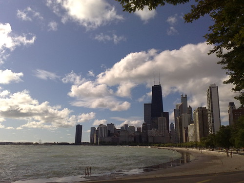 chicago lakefront beach ground view