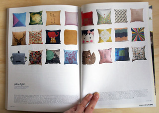 My Graph Paper cushion in the new Frankie mag!   by Spin Spin