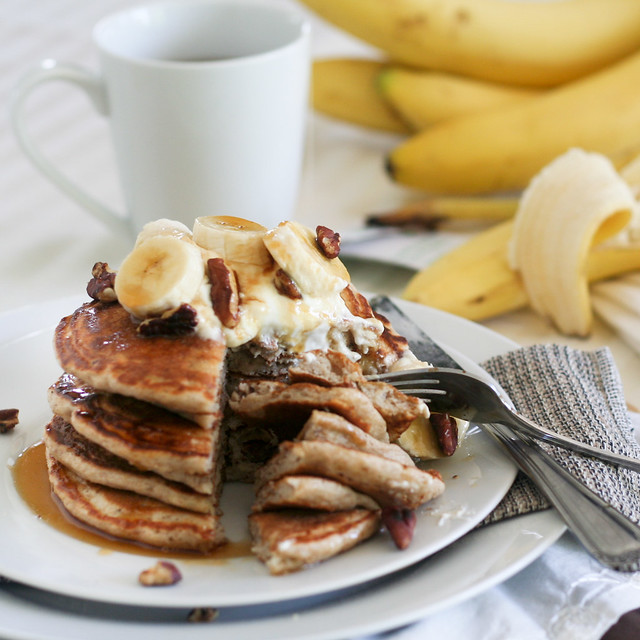 Banana Buttermilk Pancakes-27