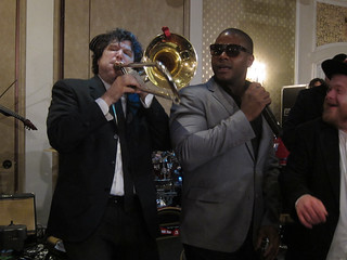 With singer Nolan Jackson | by NewYorkBrass