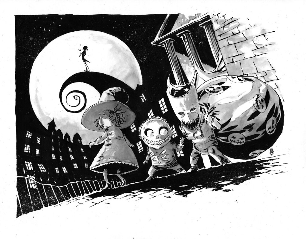 Nightmare Before Christmas Illustration.The Nightmare Before Christmas Mikeshenderson Blogspot Com