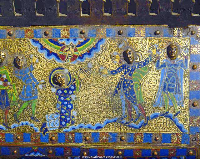 The lapidation of Saint Stephen, detail