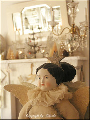 Victorian snow angel doll