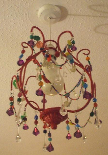 Handmade chandelier - turned off