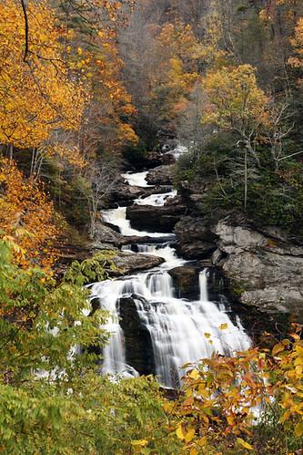 autumn color waterfall northcarolina nantahalanationalforest cullasajagorge october2011