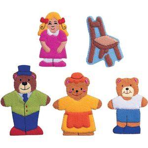 Goldilocks finger puppet